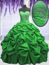 Shining Sleeveless Beading and Appliques and Pick Ups Floor Length Sweet 16 Dresses