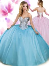 Aqua Blue Quinceanera Gowns Military Ball and Sweet 16 and Quinceanera and For with Beading Sweetheart Sleeveless Lace Up,Silhouette: Ball GownsNeckline: sweetheartSleeve Length: sleevelessHemline/Train: floor lengthBack Detail: lace upEmbellishment: beadingFabric: tulleShown Color: aqua blue(Color & Style representation may vary by monitor.)Occasion: military ball,sweet 16,quinceaneraSeason: spring,summer,fall,winterFully Lined: YesBuilt-In Bra: Yes