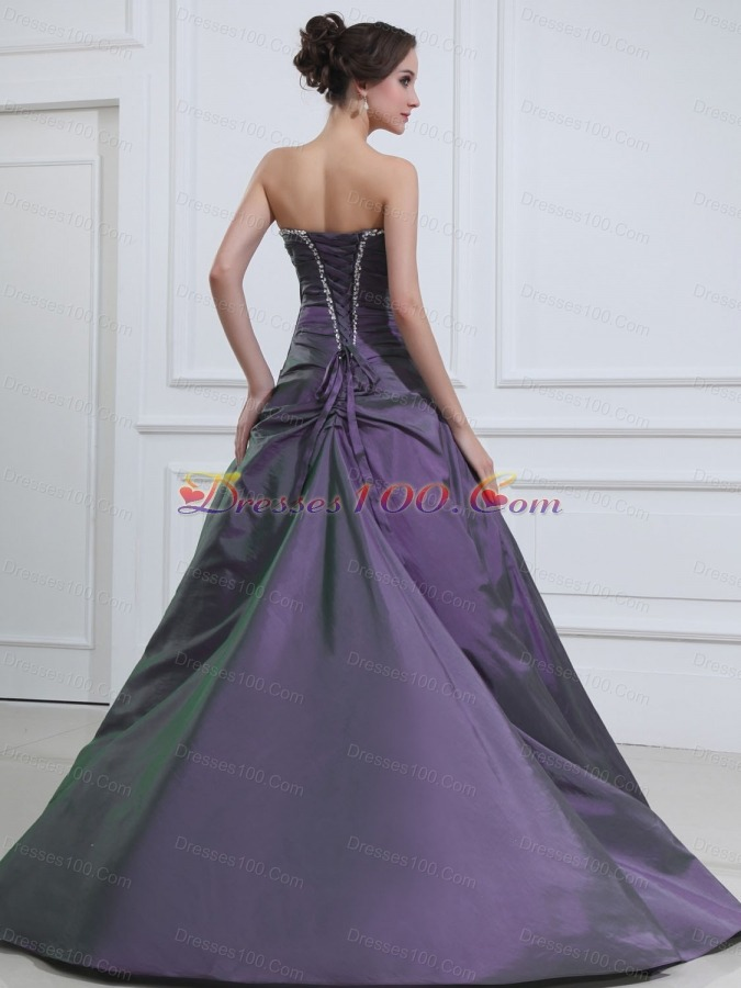 A-line Beading Quinceanera Dresses Floor-length