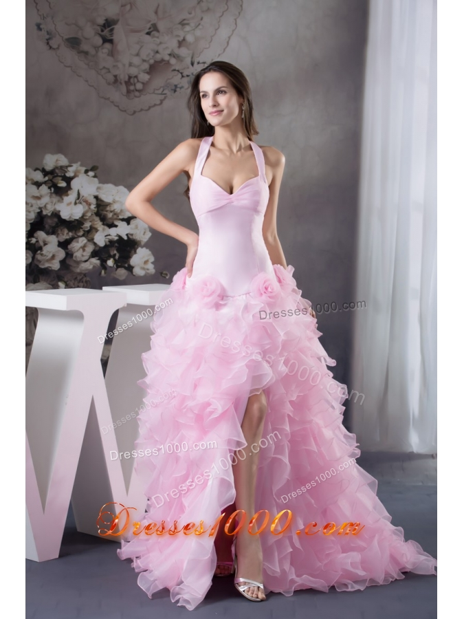 Light Colored Prom Dresses with Ruffles