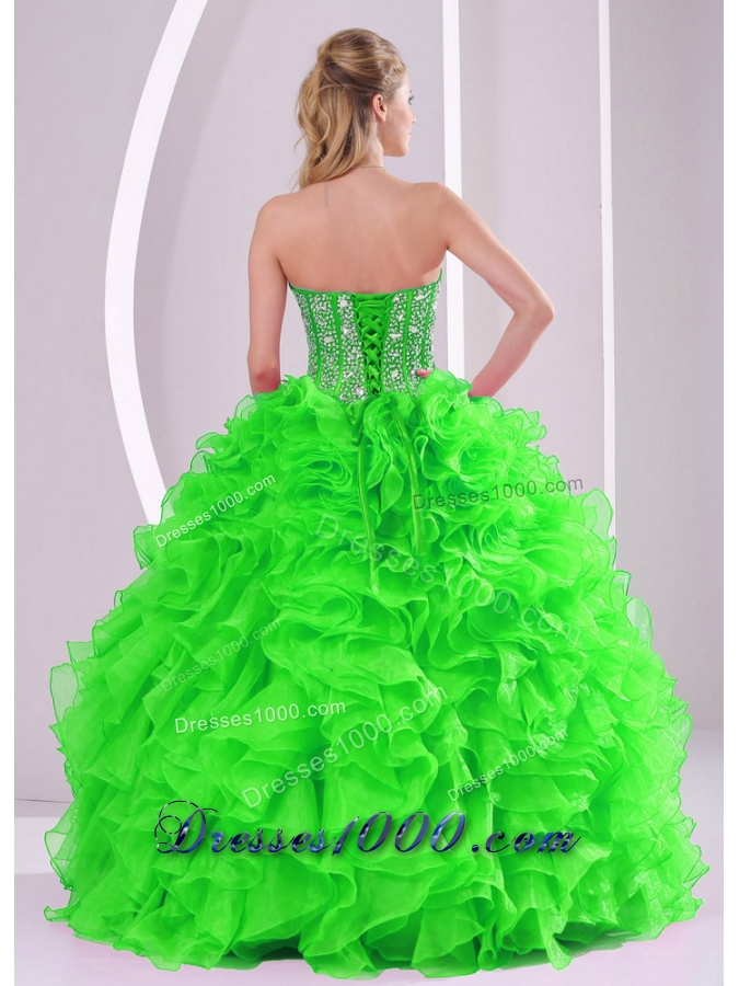 Ball Gown Ruffles and Beading 2013 winter Quinceanera Dresses with Lace up