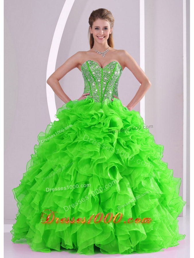 Ball Gown Sweetheart Popular Quinceanera Gowns with Beading and Ruffles