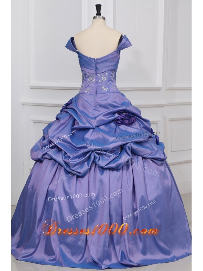 Pretty Lavender Off The Shoulder Quinceanera Dress For Girls