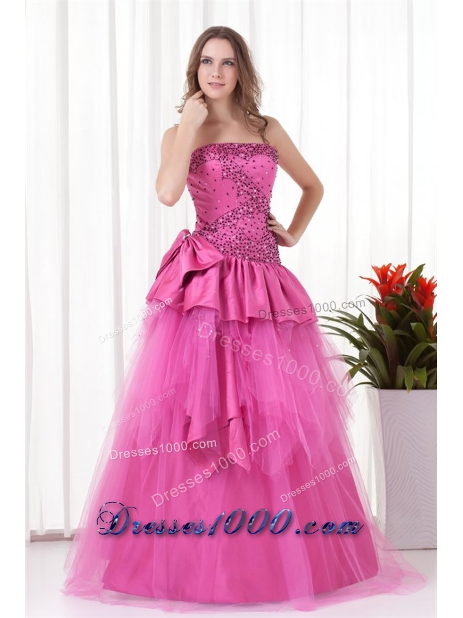 Princess Sequins and Ruffles Tulle and Taffeta Quinceanera Dress