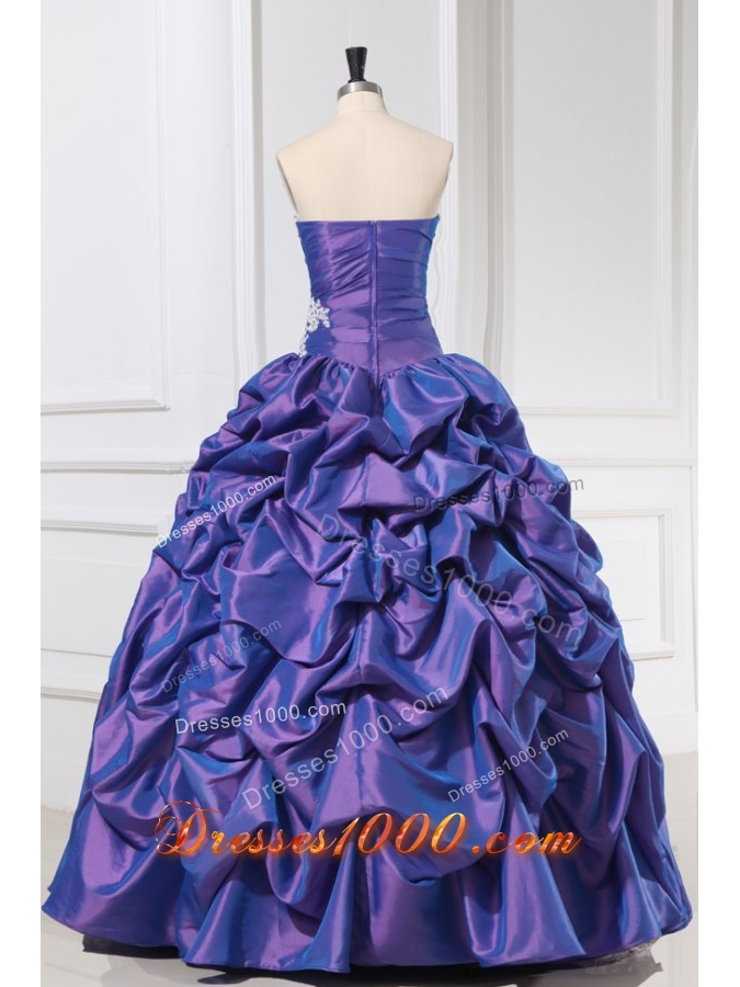 Pick Ups Ball Gown Quinceanera Party Dresses with Lace Hemline