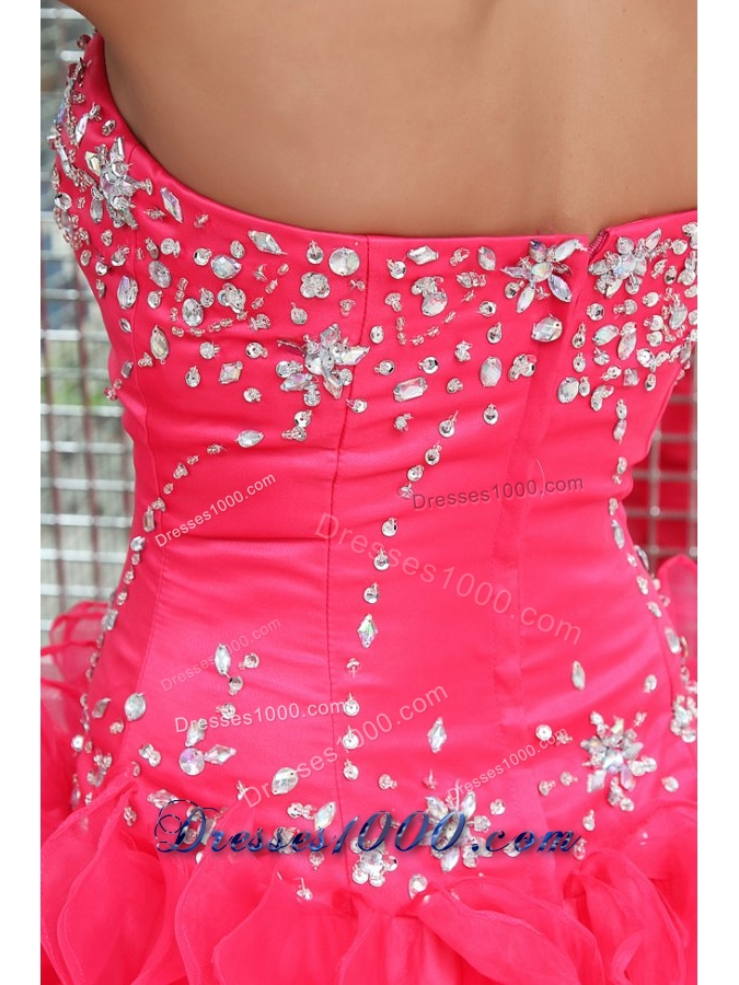 Fancy Diamonds and Ruffles Puffy Organza Sweet Sixteen Dresses