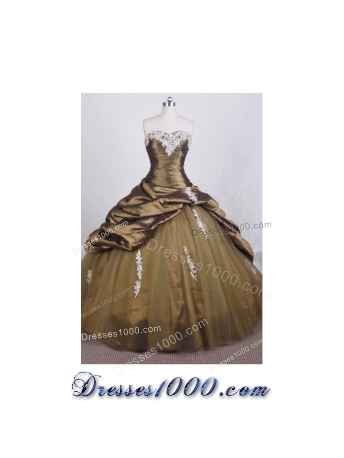 Elegant Ball Gown Sweetheart Floor-length Quinceanera Dresses Appliques