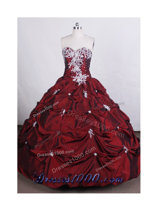 Beautiful Ball gown Sweetheart-neck Floor-length Quinceanera Dress