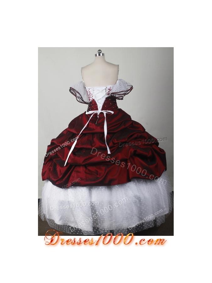 Elegant Ball Gown Strapless Floor-length Quinceanera Dress