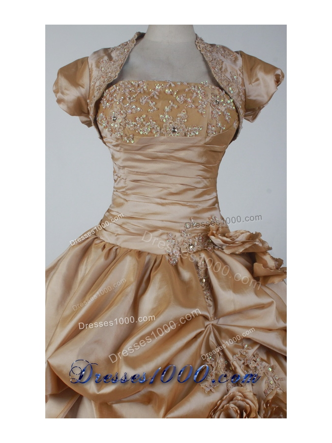 2012 Elegant Ball Gown Strapless Floor-length Qunceanera Dress