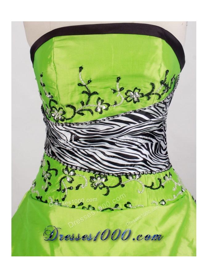 Elegant Ball gown Strapless Floor-length Quinceanera Dresses
