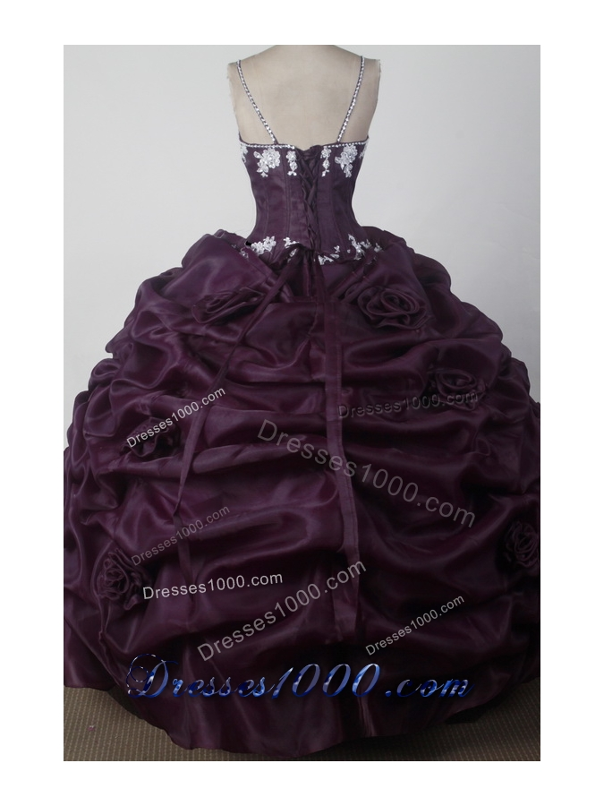 Modest Ball Gown Straps Floor-length Brown Quincenera Dresses