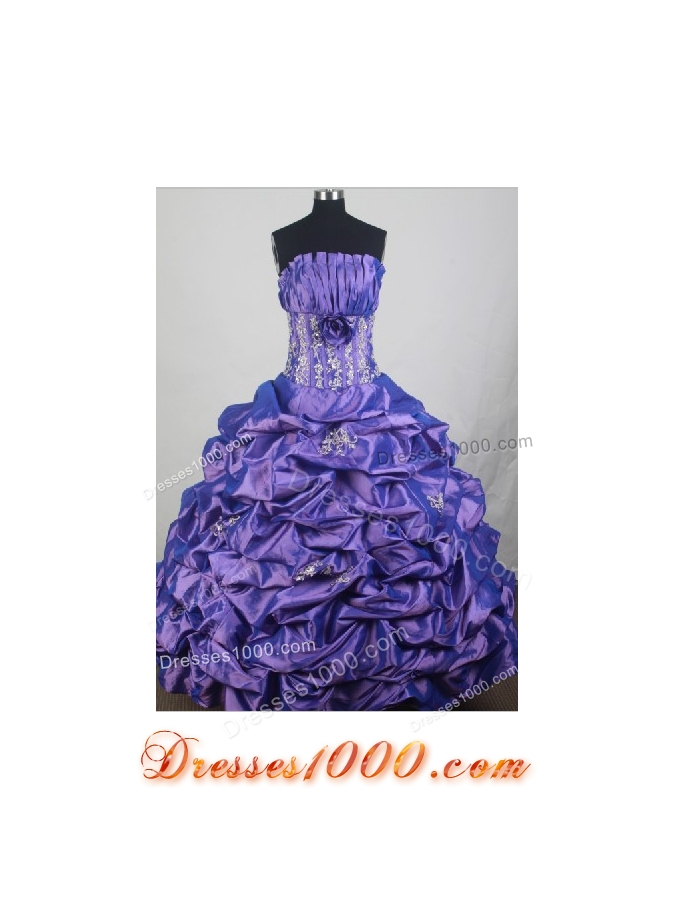 2012 Unique Ball Gown Strapless Floor-Length Quinceanera Dresses