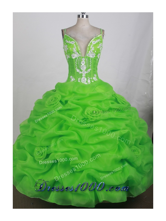2012 Unique Ball Gown Sweetheart Straps Floor-Length Quinceanera Dress