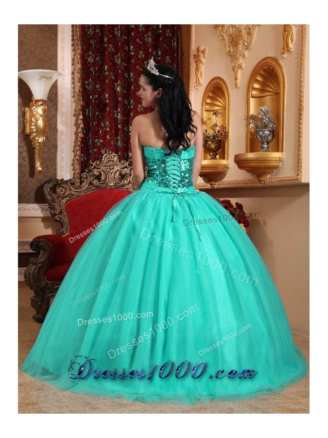 Popular Ball Gown Sweetheart Quinceanera Dress with Tulle Beading