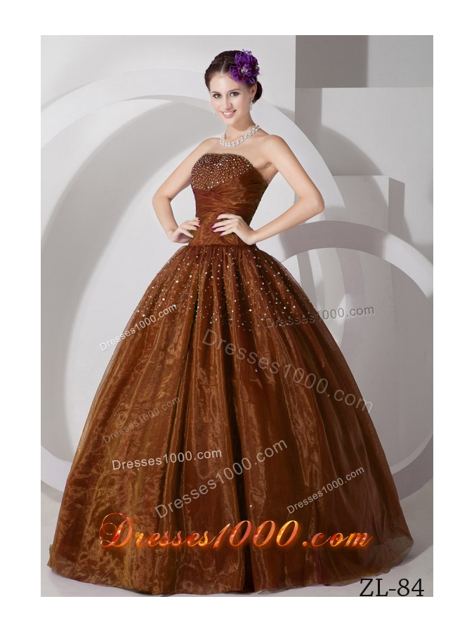 2014 Beautiful A-line Sweetheart Quinceanera Dresses with Ruching and Beading