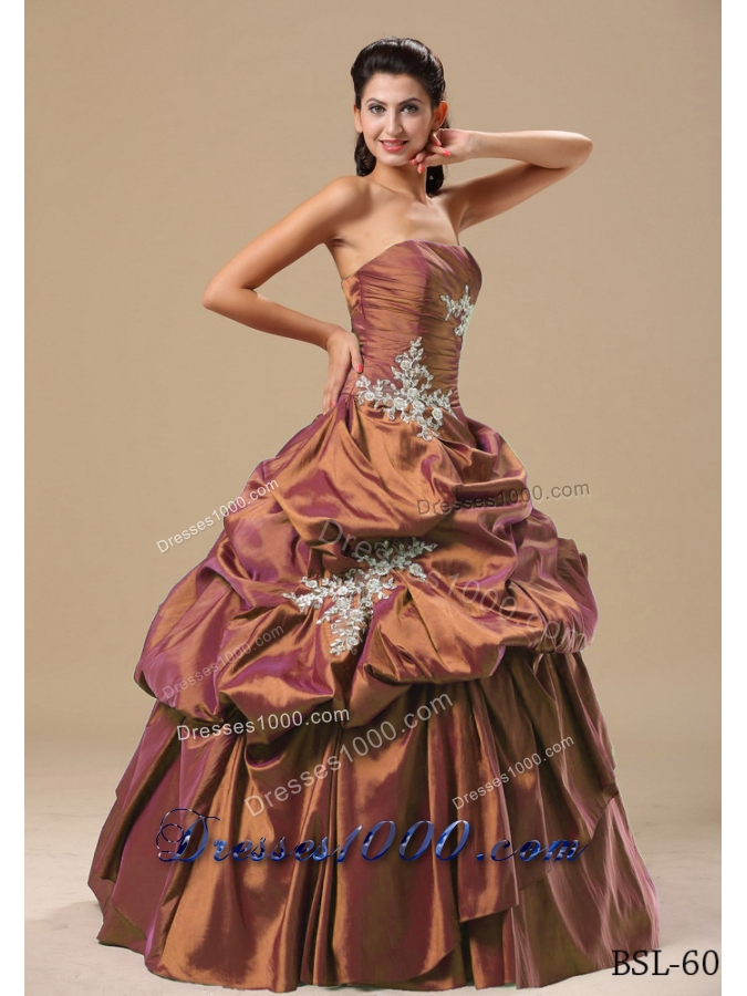 Beautiful 2014 Princess Appliques Quinceanera Dresses