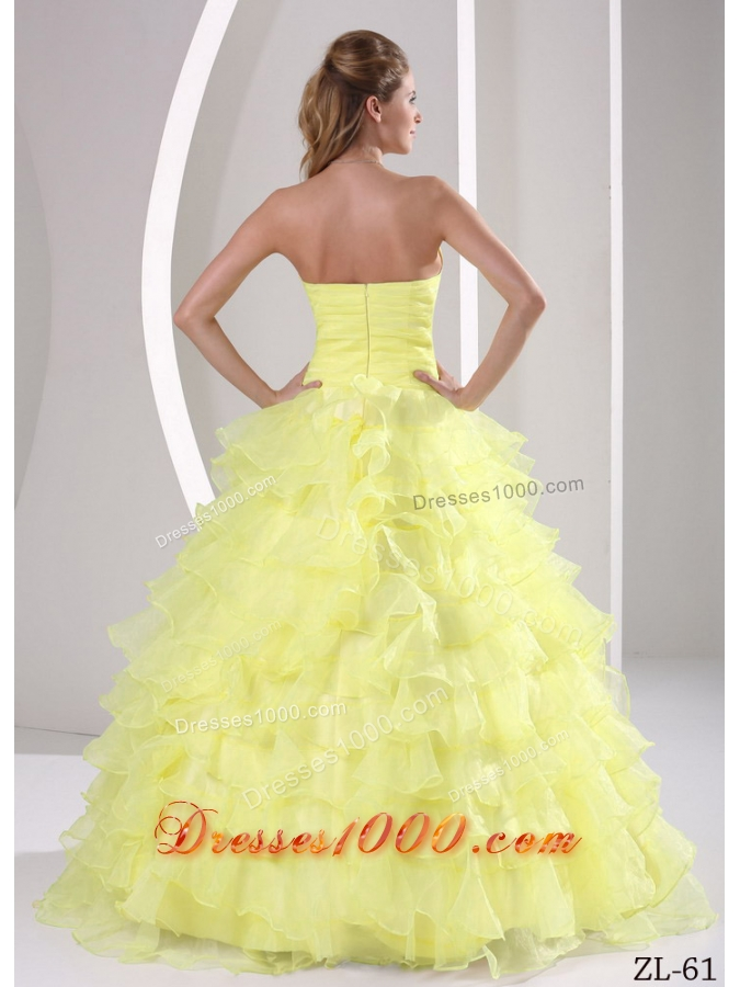 Sweetheart Appliques and Ruffles Quinceaners Gowns For Military Ball