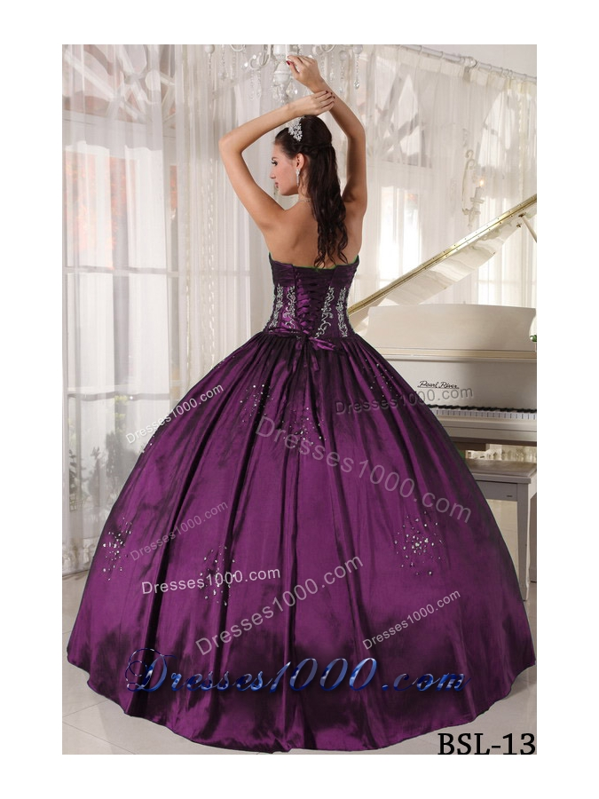 Puffy Strapless Embroidery and Beading 2014 New Style Quinceanera Dresses