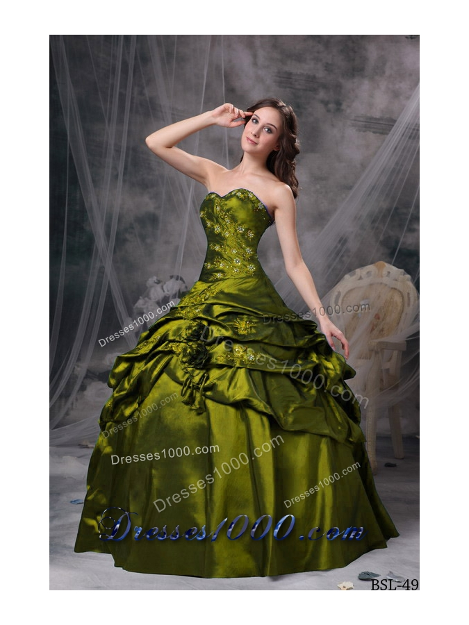 Discount Sweetheart Pick-ups Quincianera Dresses with Appliques