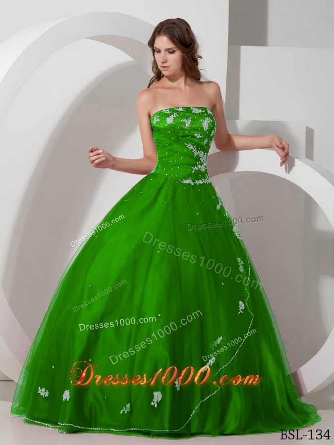 2014 Ball Gown Strapless Elegant Quinceanera Dresses with Appliques Beading