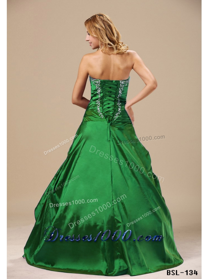 2014 Pretty Sweetheart Appliques Long Quinceanera Dresses with Ruched