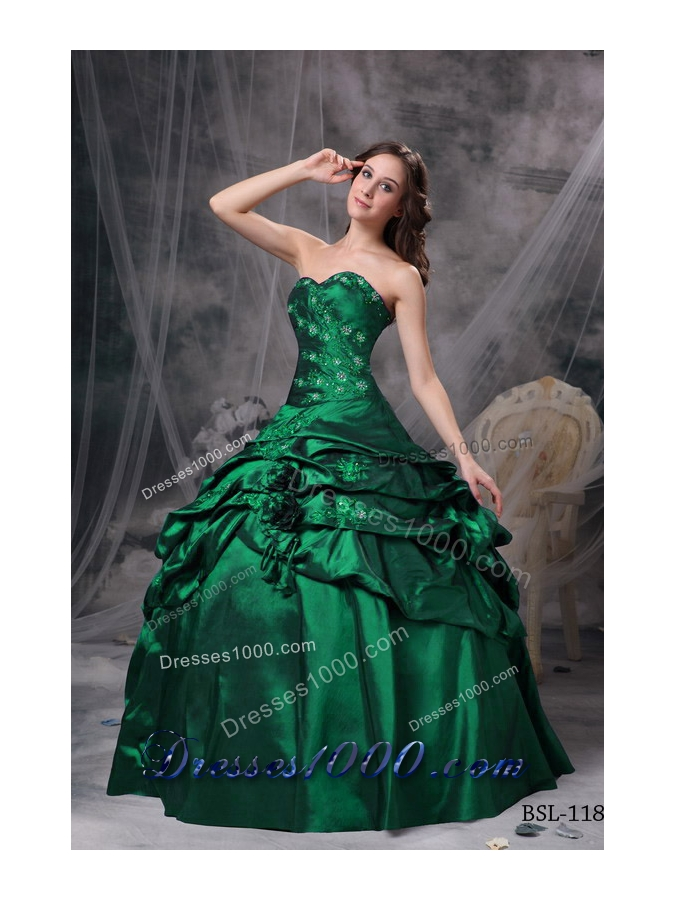 Ball Gown Sweetheart 2014 Spring Quinceanea Dresses with Appliques