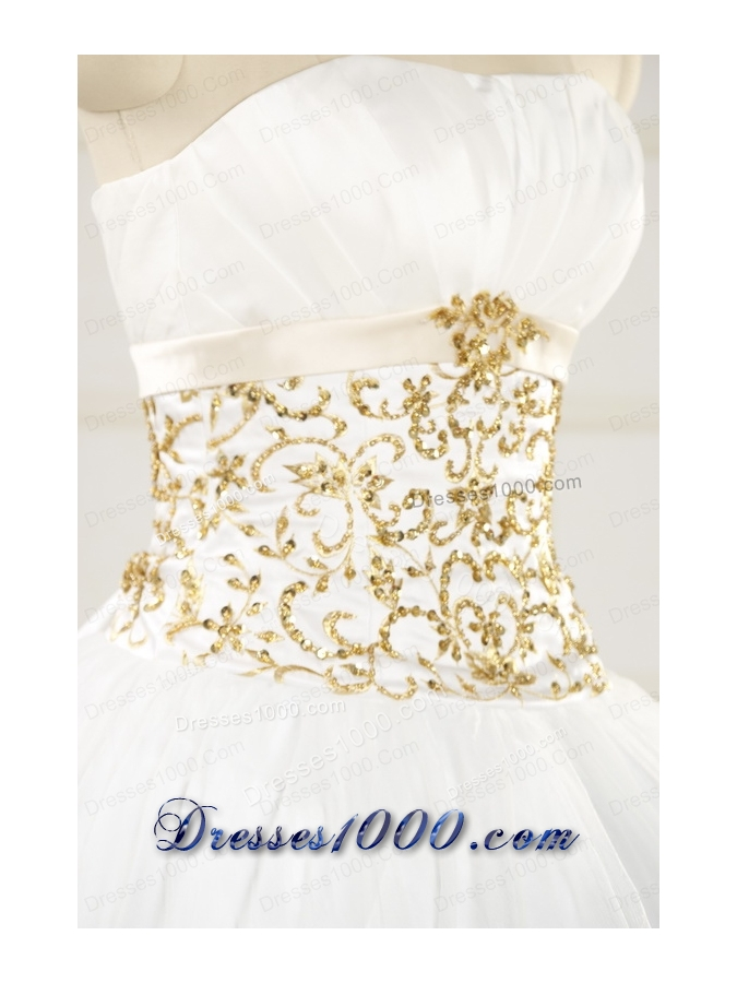 2015 Spring Sweet Beading White Quinceanera Dresses
