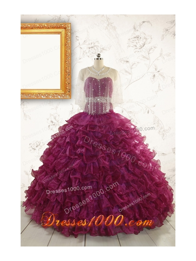 Brand New Style Quinceanera Gown with Beading and Ruffles