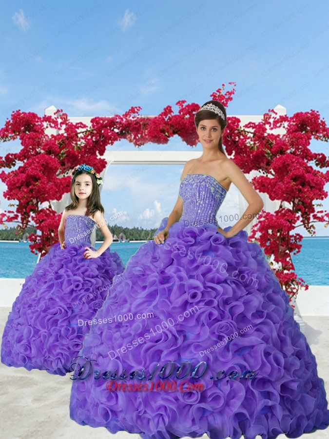 Affordable Lavender Princesita Dress with Beading and Ruffles for 2015