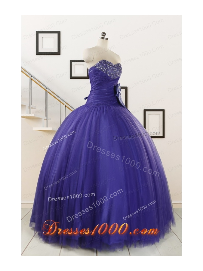 2015 Elegant Sweetheart Quinceanera Dresses with Bowknot