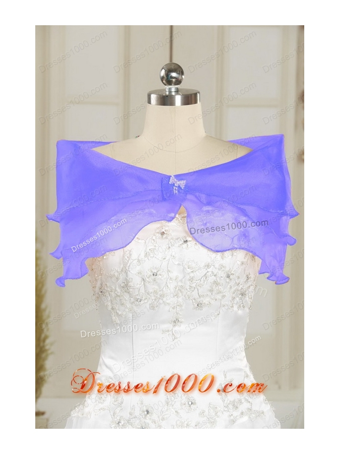 2015 Elegant One Shoulder Hand Made Flowers and Ruffles Quinceanera Dresses