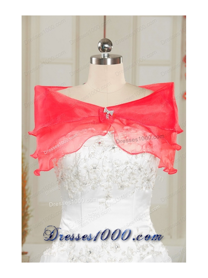 Fashionable Sweetheart Ball Gown 2015 Sweet 16 Dresses in Coral Red