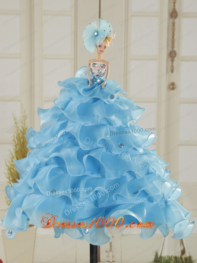 In Stock Spring Wonderful Strapless Appliques Quinceanera Dresses in Teal