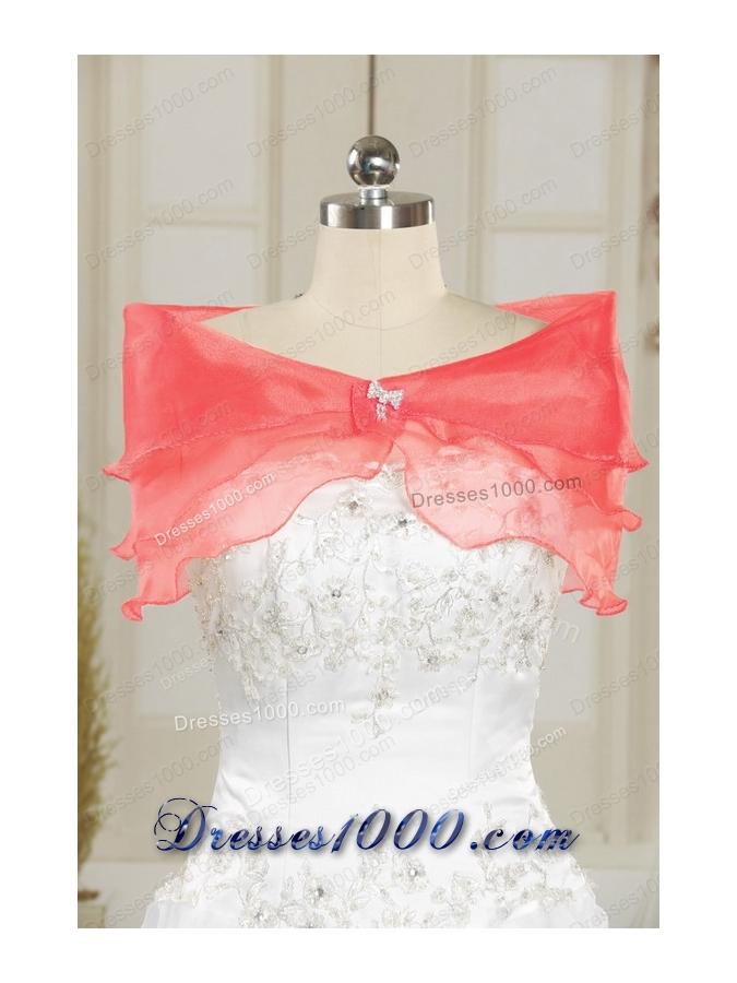 Fashionable Beaded Watermelon Quinceanera Dresses for 2015