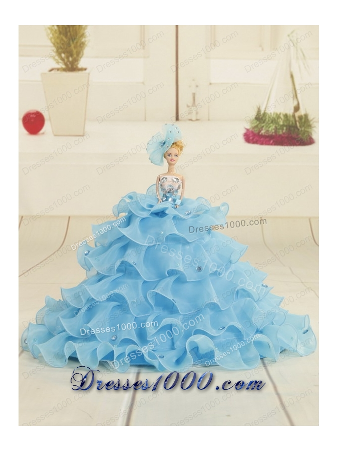 Fashionable Royal Blue 2015 Quinceanera Dresses with Appliques and Ruffles