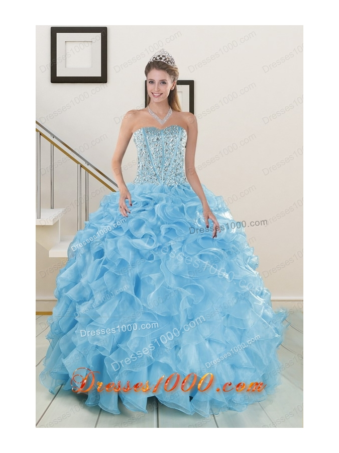 New Style Beading Apple Green Quinceanera Dresses