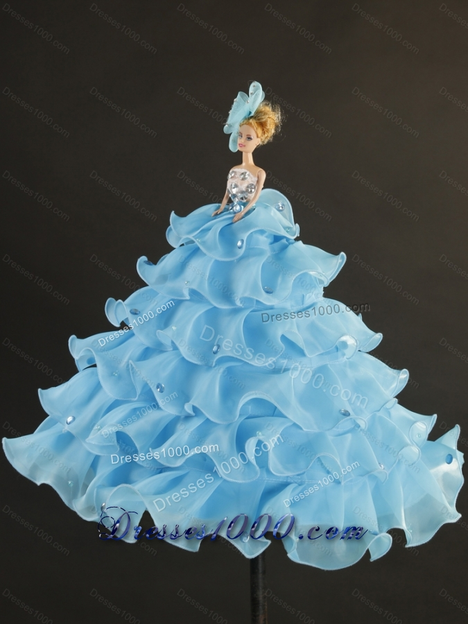 2015 New Style Spring Green Quinceanera Dresses with Beading and Ruffles