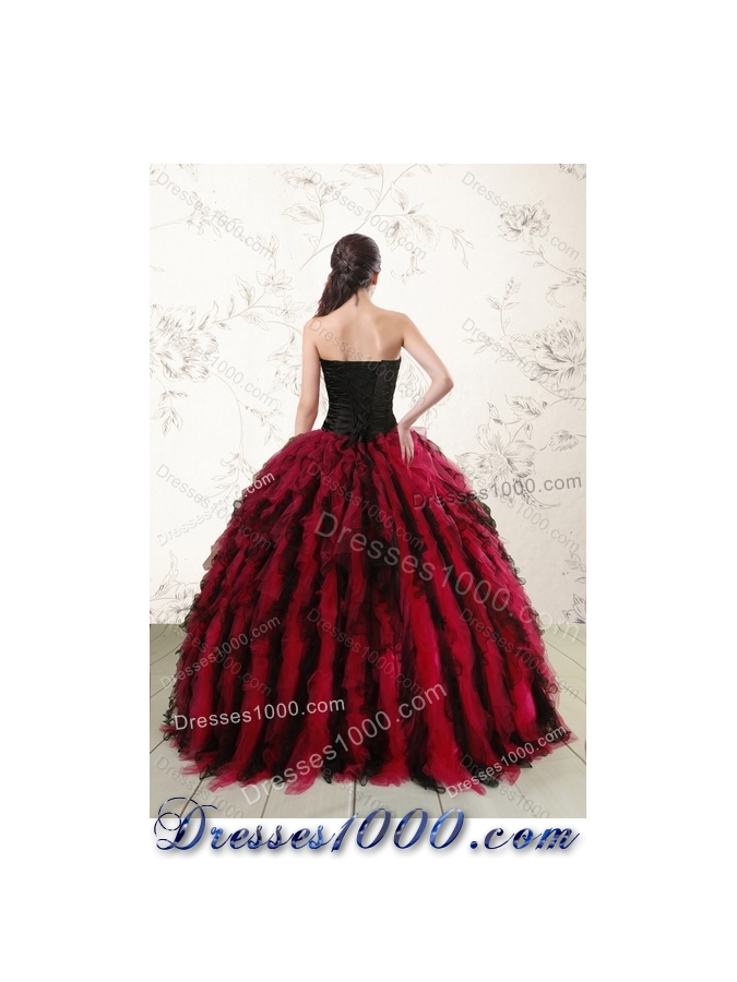 Designer Multi Color Sweet 16 Dresses with Beading and Ruffles