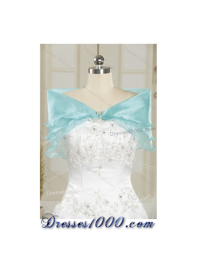 Designer Royal Blue Quince Dresses with Beading and Ruffles for 2015