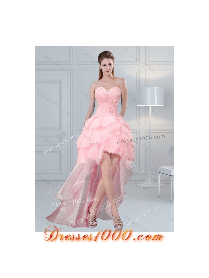 Detachable Sweetheart Beaded 2015 Quinceanera Dresses with Ruffled Layers