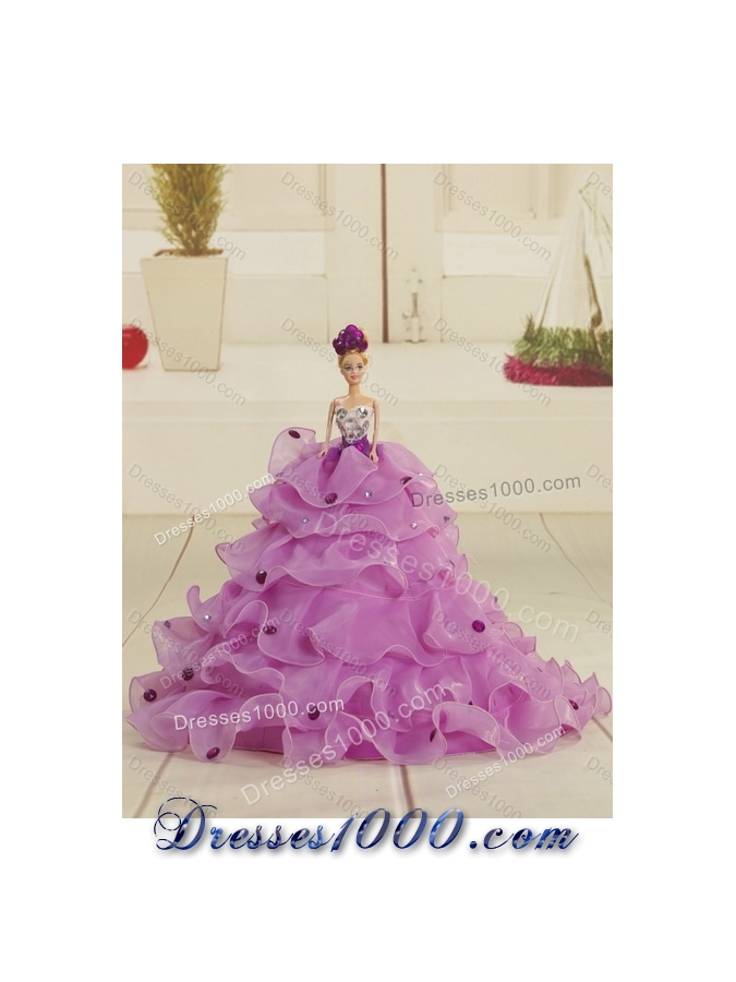 2015 Fashionable Strapless Quinceanera Dress with Embroidery and Ruffles