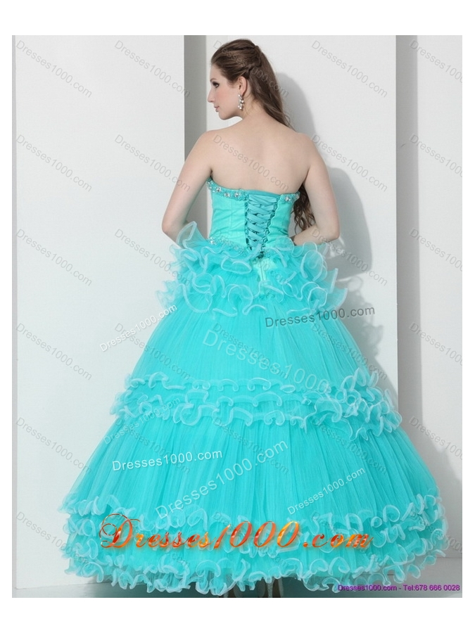 Perfect Sweetheart Quinceanera Dresses with Ruffled Layers and Beading