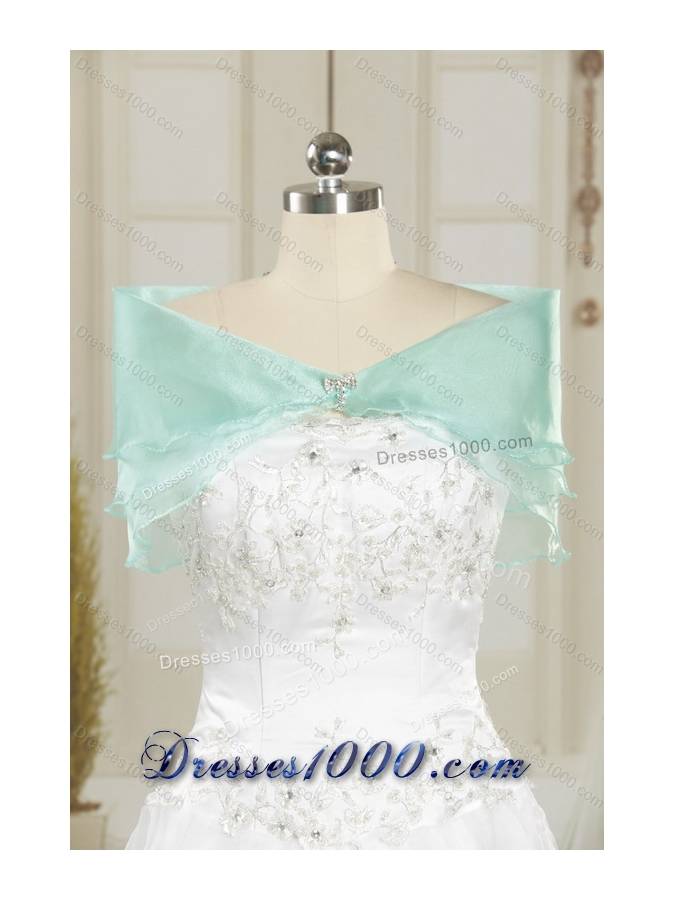 2015 One Shoulder Ruffles Quinceanera Dresses with Hand Made Flowers and Pick Ups