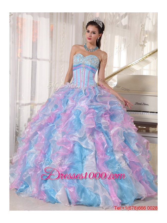 Beautiful Sweetheart Ruffles and Appliques Quinceanera Dresses