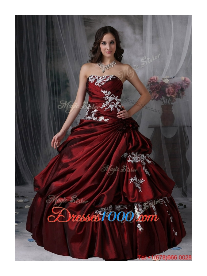 New Style Ball Gown Strapless Appliques Quinceanera Dresses