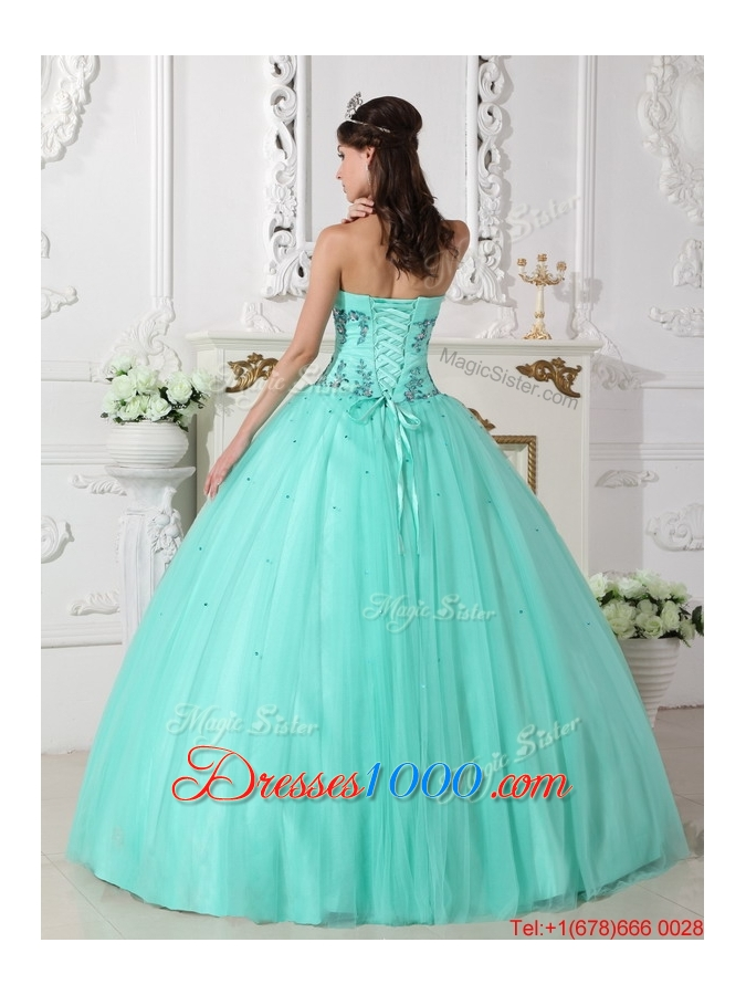 Romantic Green Ball Gown Sweetheart Quinceanera Dresses