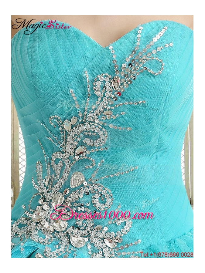 2016 Lovely Sweetheart Quinceanera Dresses with Beading and Paillette