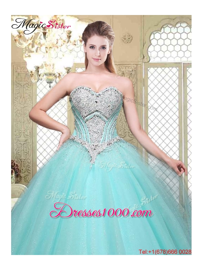 Modest Discount Sweetheart Beading Quinceanera Gowns for Summer