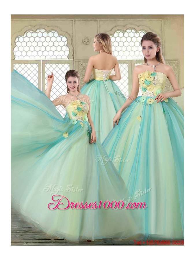 New Arrivals Strapless Quinceanera Dresses with Appliques